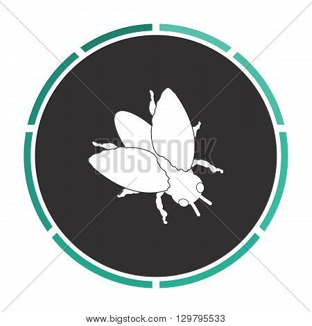 insect Simple flat white vector pictogram on black circle. Illustration icon