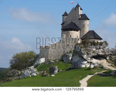 The castle in Bobolice was built by King Casimir III the Great in the middle of the 14th century as part of the chain of fortified castles called Orle Gniazda (Eagles Nests)