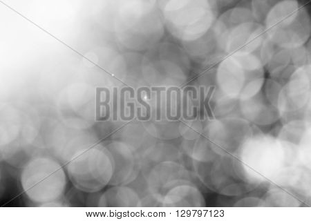 Black and white bokeh with flare for background