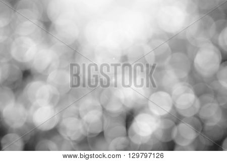 Black and white blurred bokeh for background