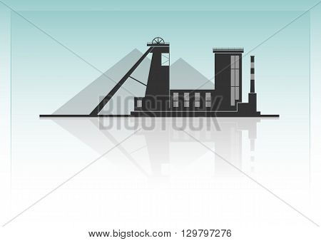 Coal mining. Isolated on background. Vector illustration