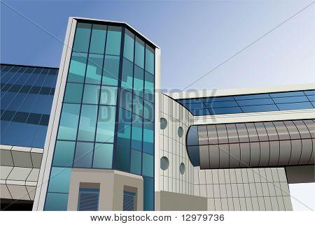 modern bridge building vector