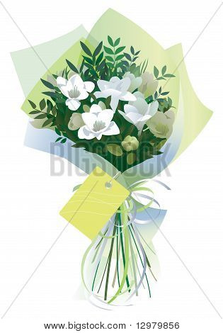 Bouquet, gift wrapped