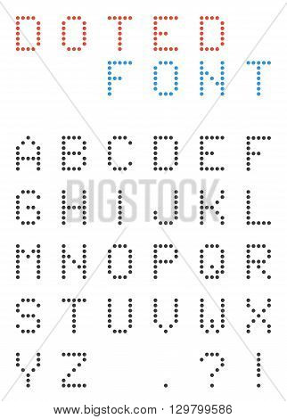 Set of uppercasse dotted letters - alphabet font made of small circles. abc. point. circle. dotted font. abstract alphabet. geometry alphabet. uppercase alphabet. typeset. dotted character typeset.