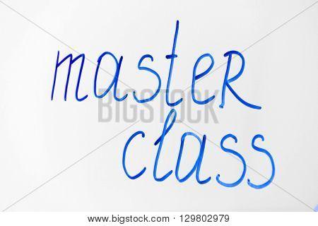 Words Master Class written on the flipchart