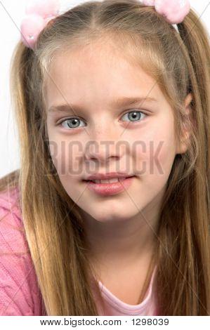 Blond Girl Wearing Pink