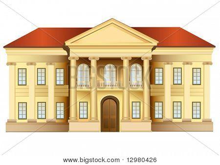 Herrenhaus mit Spalten-Vektor