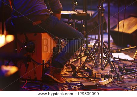 Musicians on the stage