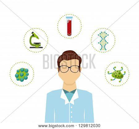 biology science design, vector illustration eps10 graphic