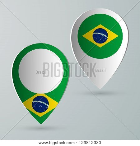 paper of map marker for map and navigators brazil