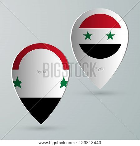 paper of map marker for maps and navigators syria