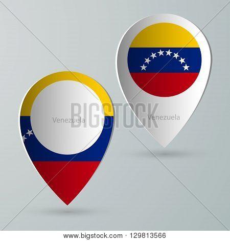 paper of map marker for maps and navigators venezuela