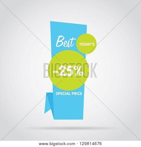 Discount sticker. Offer sticker. Discount label. Special discount vector label. Sale sign. Discount element template. Special offer sticker. Promo sticker. Discount icon. Discount vector banner. Sale.