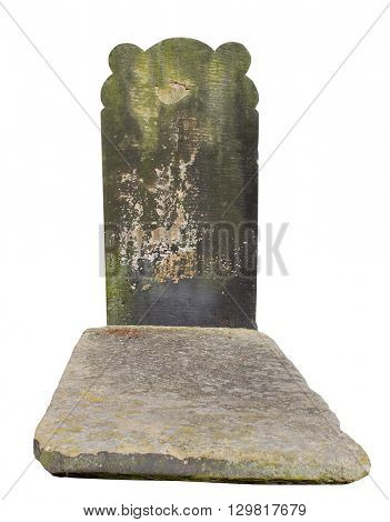 Old unidentifiable Victorian style grave in a cemetery, England.