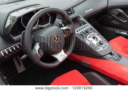 Red Lamborghini Interior