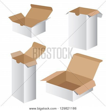 Packaging Box. Collection Box Packaging Design. Vector Collection box packaging.