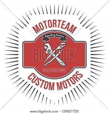 Motorteam Custom motors T-shirt graphic Vector illustration