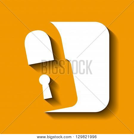 padlock icon design, vector illustration eps10 graphic