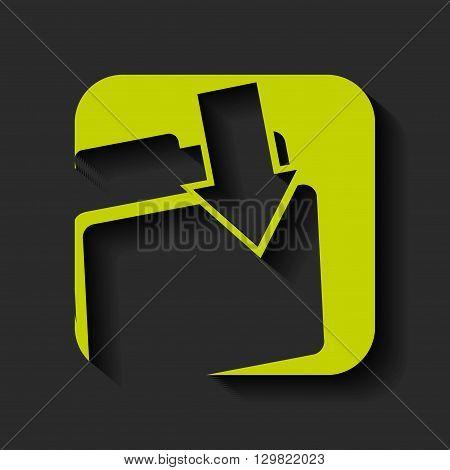 folder download icon design, vector illustration eps10 graphic
