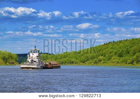 Tula region, Russia - May, 13, 2016: Landscape with the image of russian midland in summer