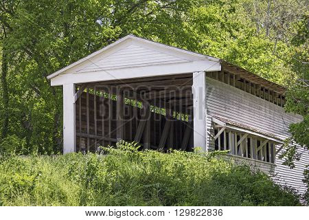 Portland Mills Covered Bridge in Parke County Indiana