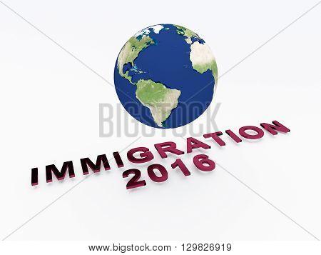 Immigration 2016 Concept