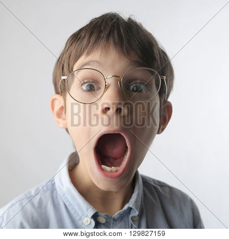 Surprised young boy