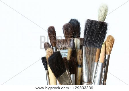 Detail of the various brushes - paint brushes