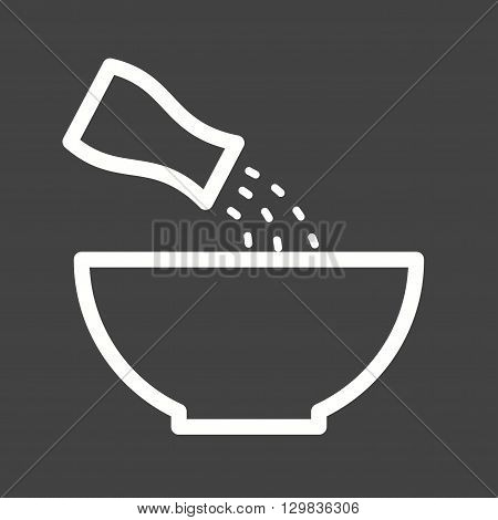 Salt, white, vegetable icon vector image. Can also be used for kitchen. Suitable for use on web apps, mobile apps and print media.