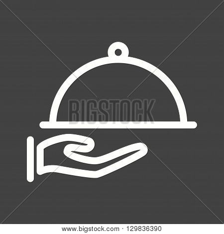 Kitchen, dinner, served icon vector image. Can also be used for kitchen. Suitable for use on web apps, mobile apps and print media.