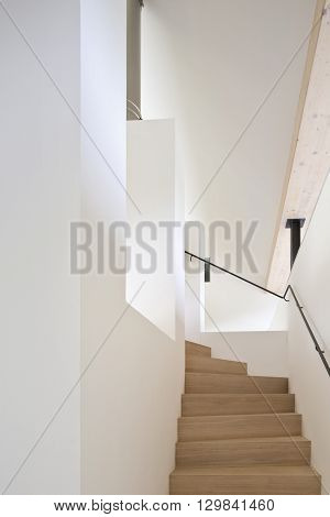 stairs up at family house large living space