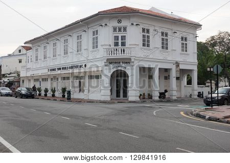 Penang Malaysia - May 10-2016 : Geroge Town building information center in George Town Malaysia