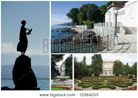 Collage With Landscape Of City Opatija, Croatia