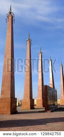 Shymkent, KAZAKHSTAN - January 26, 2016: Memorial of Glory, Shymkent, Kazakhstan