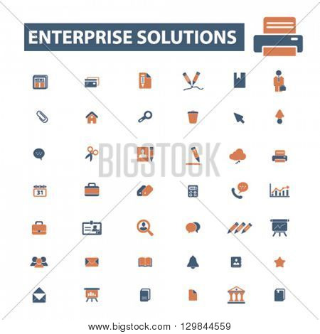 enterprise solutions icons