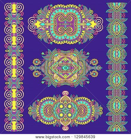 ornamental decorative ethnic floral adornment for your design, vector illustration