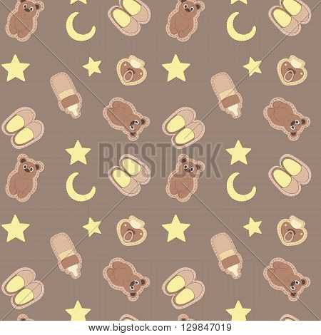 seamless background for children's sleepwear sweet dream