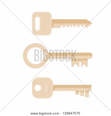 Keys vector illustration. Keys icon. Keys isolated on background. Keys house image. Keys in flat style. Keys to apartment. Keys for locking and unlocking doors.
