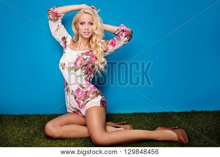Sexy Girl Posing In Studio.