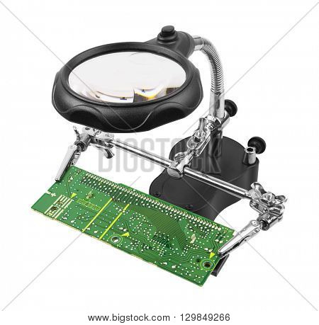 Holder to use in repair circuit board, isolated on white background