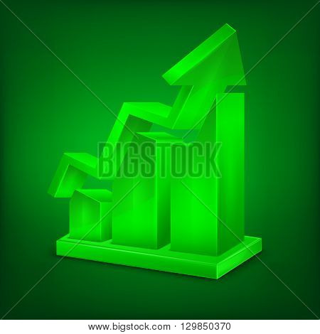 Chart Icon In Green
