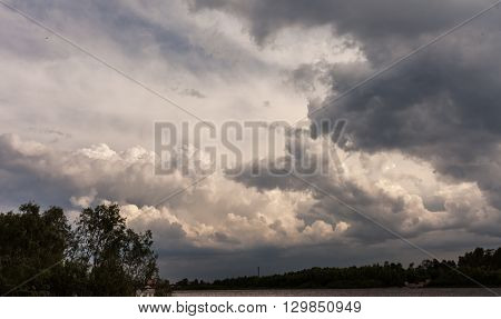 Background of storm clouds before a thunder-storm.