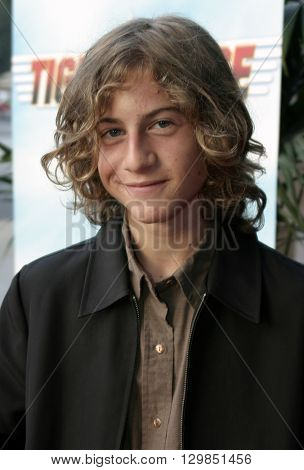 Alex Linz at the Los Angeles premiere of 'Tiger Cruise' held at the DGA Theatre in Los Angeles, USA on July 27, 2004.
