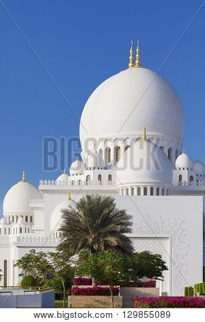 Part of famous Sheikh Zayed Grand Mosque UAE