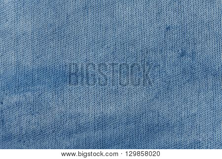 Dirty Navy Blue Cloth Texture.