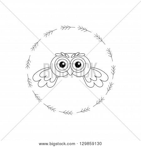 Owl vector birds isolated on white background. vector illustration owl