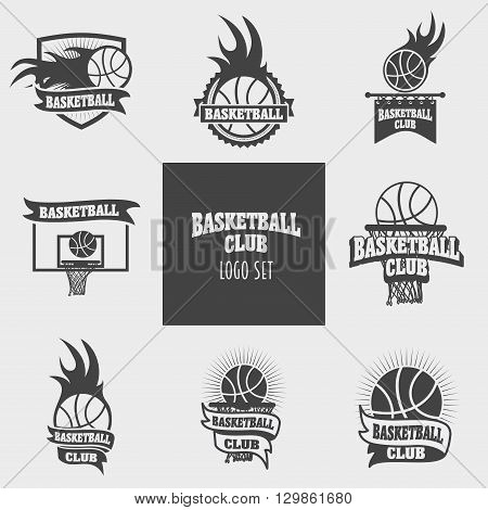Vector Set Of Basketball Logos, Labels, Badges And Signs