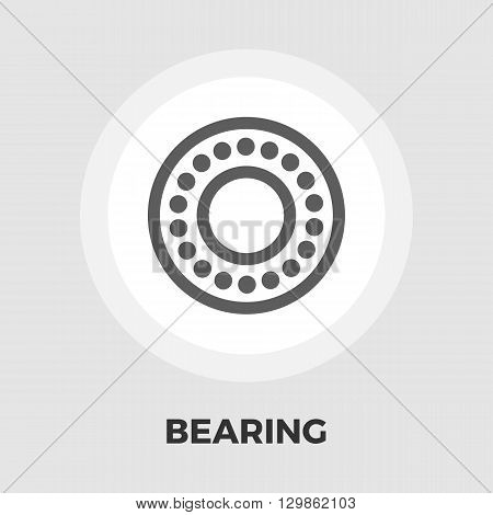 Bearing icon vector. Flat icon isolated on the white background. Editable EPS file. Vector illustration.