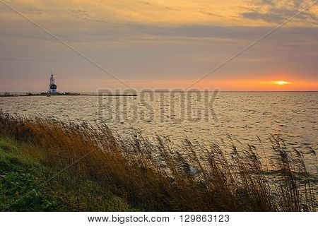 The Paard van Marken lighthouse translated as