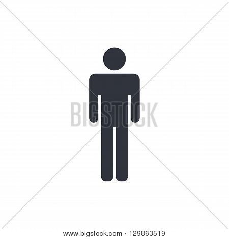 Male Icon Icon In Vector Format. Premium Quality Male Icon Symbol. Web Graphic Male Icon Sign On Whi